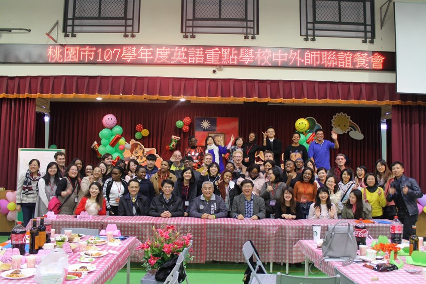 teach taiwan english teachers in taoyuan elementary school gathering