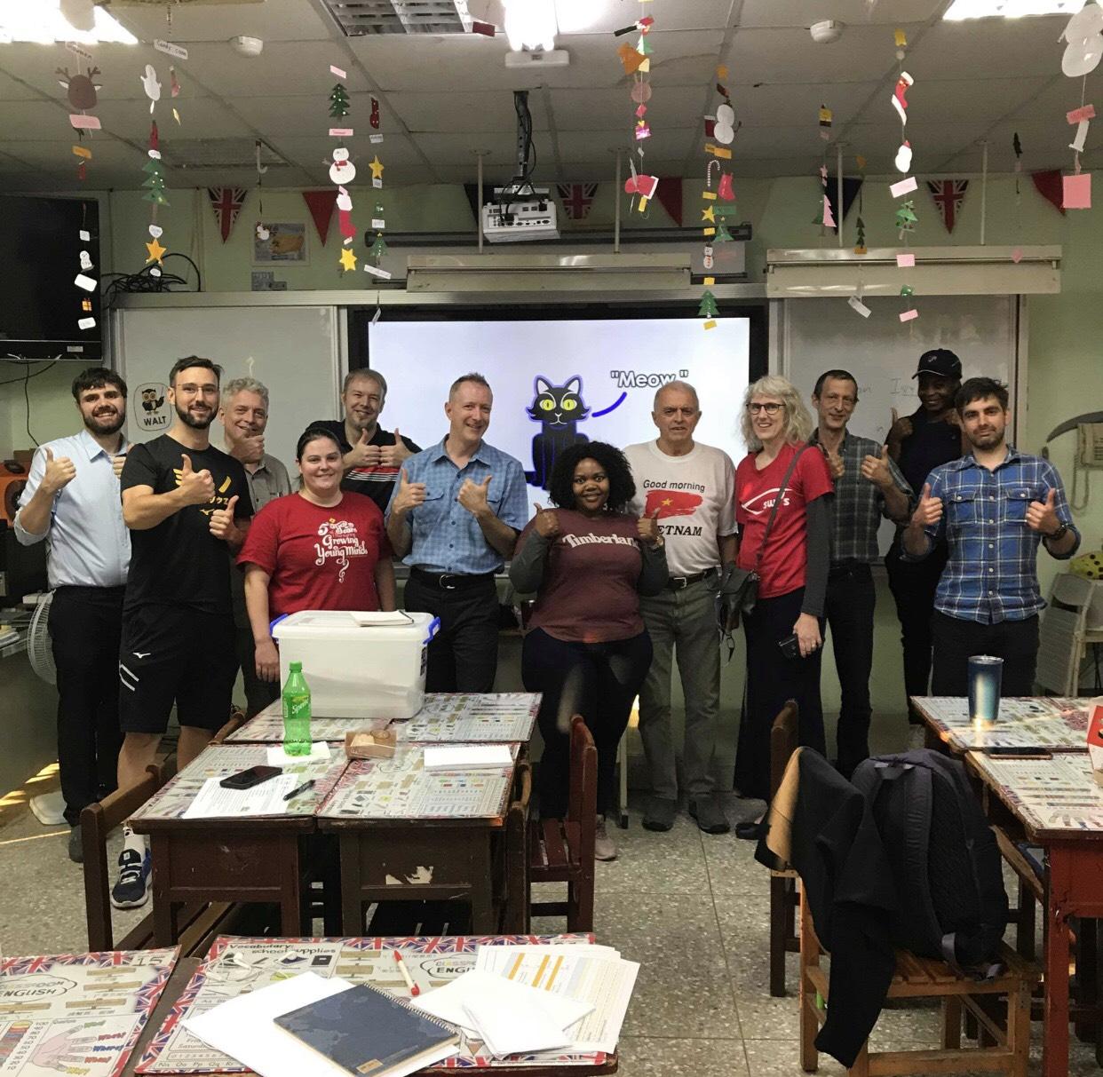 english teachers from teach taiwan in taichung fet program